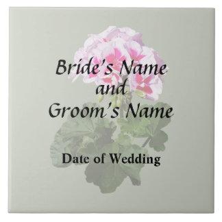 Red And Pink Geranium Wedding Supplies Tile
