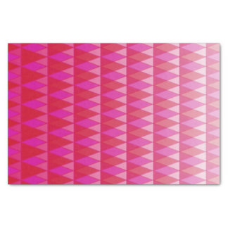Red and Pink Gradient Fading Triangles Print Tissue Paper