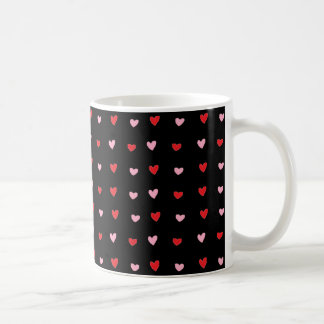Red and Pink Hearts Basic White Mug