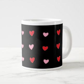 Red and Pink Hearts Jumbo Mug