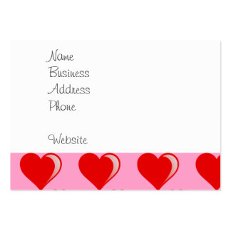 Red and Pink Hearts Valentine's Day Pattern Business Card