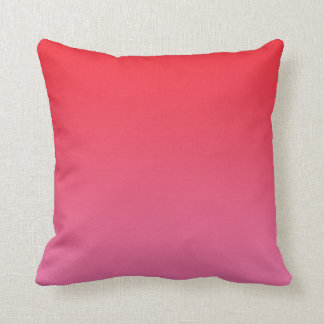 """""""Red And Pink Ombre"""" Throw Pillow"""