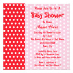 Red and Pink Polka Dot, Custom Baby Shower Custom Invite