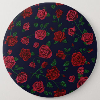 Red and Pink Roses Badge
