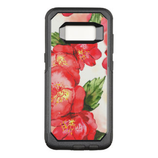 Red and Pink Soft Watercolor Roses OtterBox Commuter Samsung Galaxy S8 Case