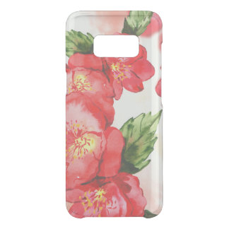 Red and Pink Soft Watercolor Roses Uncommon Samsung Galaxy S8 Case