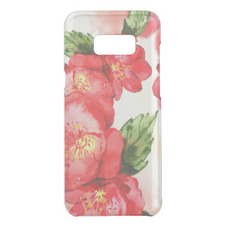 Red and Pink Soft Watercolor Roses Uncommon Samsung Galaxy S8 Plus Case