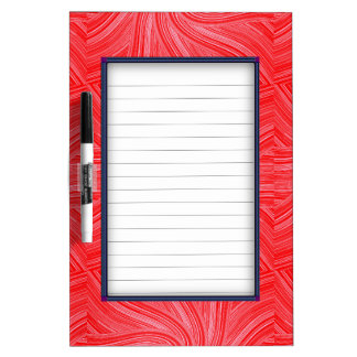 Red and Pink Spiral  Print Dry Erase Board