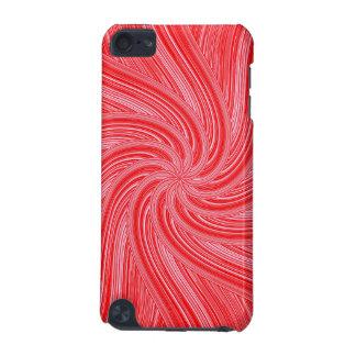 Red and Pink Spiral  Print iPod Touch 5G Cover