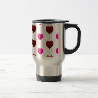 Red and Pink Valentine Hearts Coffee Mug
