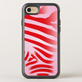 Red and Pink Zebra Print Stripes OtterBox Symmetry iPhone 7 Case