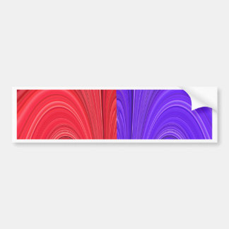 Red and Purple Coming Together Bold Abstract Art D Bumper Sticker