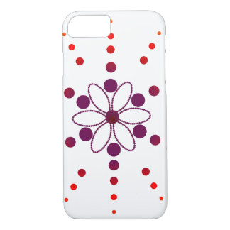 Red and purple flowery beads iPhone 7 case