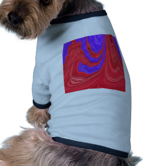 Red and Purple Flowing Bold Color Abstract Art Pet Tee