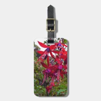 Red and purple Fuchsia Magellanica Luggage Tag
