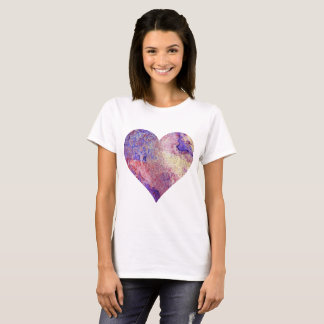 Red and Purple Heart T-Shirt Two