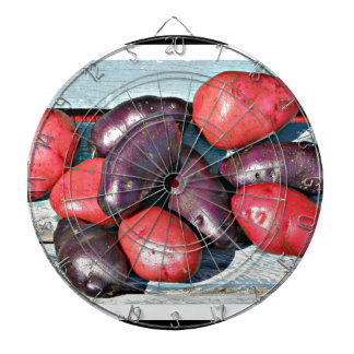 red and purple Potatoes Dartboard