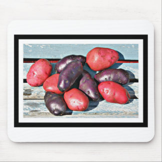 red and purple Potatoes Mouse Pad