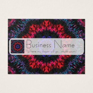 Red and purple yarn business card