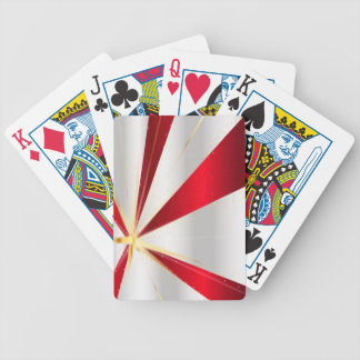 Red And Silver Background Bicycle Playing Cards