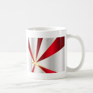 Red And Silver Background Coffee Mug