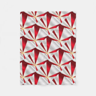 Red And Silver Background Fleece Blanket