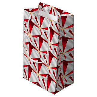 Red And Silver Background Small Gift Bag