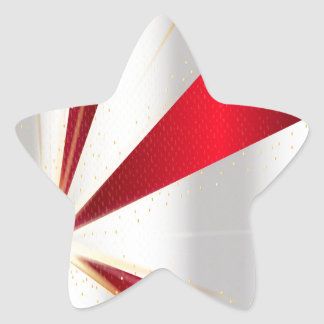 Red And Silver Background Star Sticker