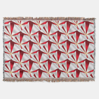 Red And Silver Background Throw Blanket