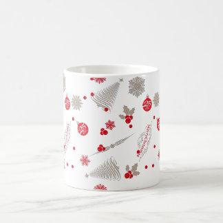 Red and Silver Christmas Mug