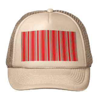 Red and Silver Christmas Stripes Trucker Hat