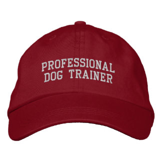 Red and Silver Professional Dog Trainer Embroidered Hat