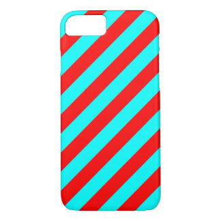 Red and Turquoise Stripes iPhone 7 Case