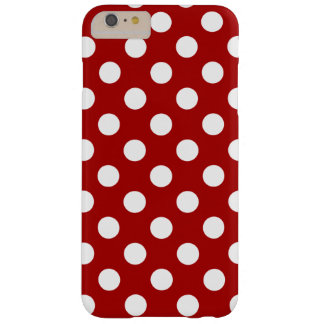 Red and Weis Polka DOT sample, super sweet, Barely There iPhone 6 Plus Case