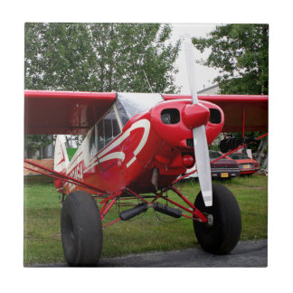 Red and white aircraft, Alaska Ceramic Tile
