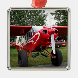Red and white aircraft, Alaska Metal Ornament