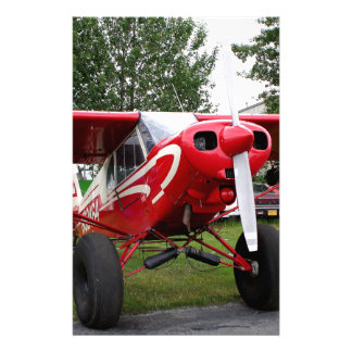 Red and white aircraft, Alaska Stationery