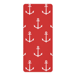 Red and White Anchors Pattern 1 Custom Announcement