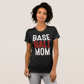 Red And White Baseball Mom Shirts