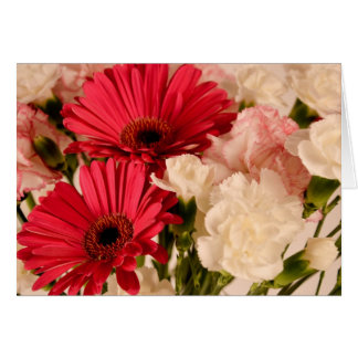 """Red and White Bouquet"" collection Card"