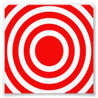 Red and White Bulls-Eye Photographic Print