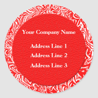 Red and White Business Address Labels Stickers
