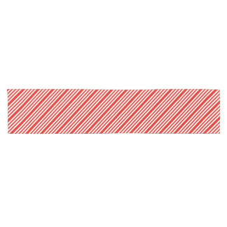 Red and White Candy Cane Stripe Table Runner