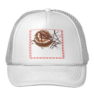 Red and White Checked Plaid Dessert Trucker Hats