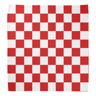 Red and White Checker Pattern Kerchiefs