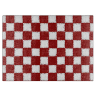 Red and White Checkered Cutting Board