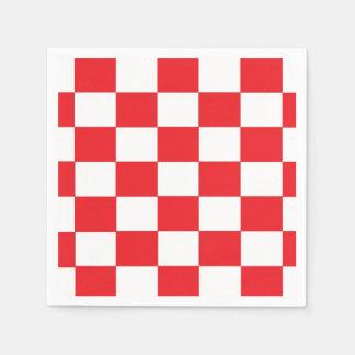 Red and White Checkered Paper Napkins Paper Napkin