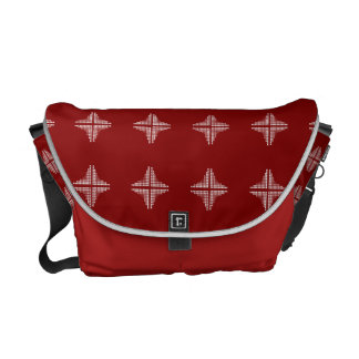 Red And White Checkered Pattern Commuter Bag