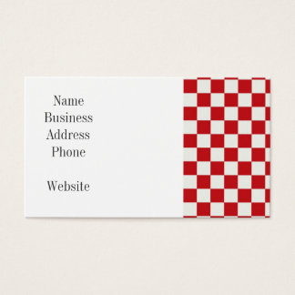 Red and White Checkered Pattern Country BBQ Colors