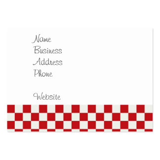 Red and White Checkered Pattern Country BBQ Colors Pack Of Chubby Business Cards